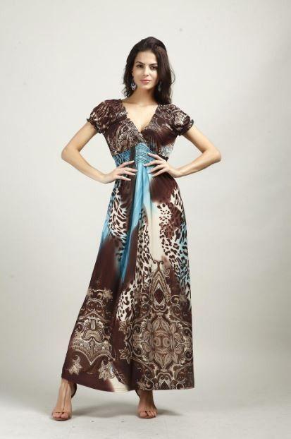 Dámské dlouhé šaty se vzorem hnědomodré – Velikost L Na tento produkt se vztahuje nejen zajímavá sleva, ale také poštovné zdarma! Využij této výhodné nabídky a ušetři na poštovném, stejně jako to udělalo již velké …