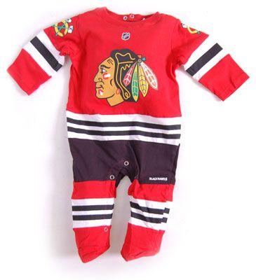 Reebok Chicago Blackhawks Newborn Uniform Onesie Jersey