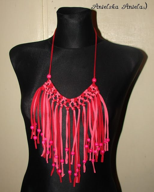 DIY...fringe macrame necklace...