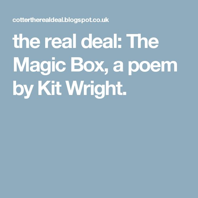 15 best maths class images on pinterest math class dimensional the real deal the magic box a poem by kit wright fandeluxe Choice Image