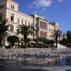 Miaoulis Square | This is the main square of Ermoupoli, the very heart of the island