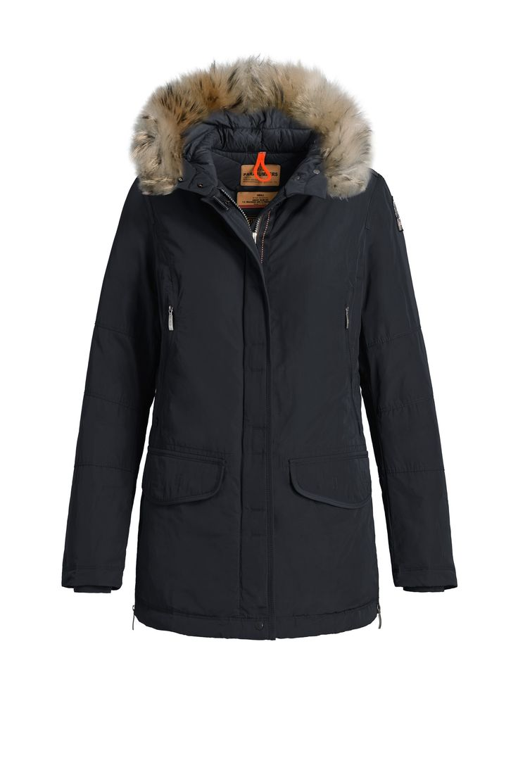 Rabatt Blå Rita Hooded Down Parka for kvinner fra Parajumpers