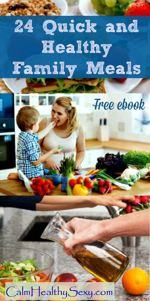 24 quick and healthy family breakfasts, lunches and dinners - Fast food from your own kitchen! Free ebook | Healthy eating | Family meals | Quick and easy meals