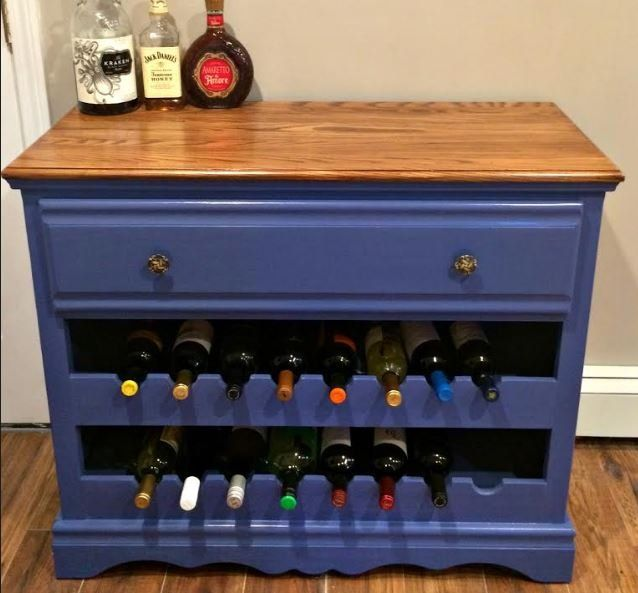 Do you have an old dresser that is looking for a new lease on life? How about turning your old, drab dresser into a funky wine bar...