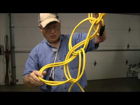 Works great. You will never roll cords again. How to Wrap up an Electric Cord Video http://www.youtube.com/user/willcfish/videos