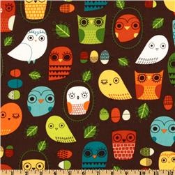 Owl Print I'd LOVE to make into a cute bag. :)