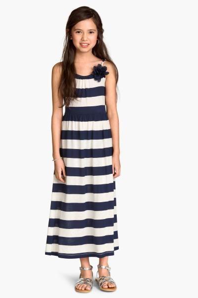 Vestido largo de punto   H&M