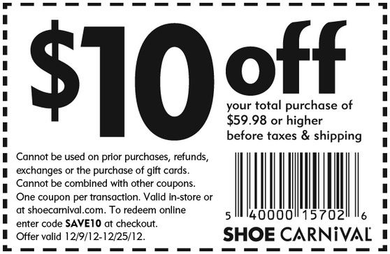 Get coupon here: http://www.couponsinsider.com/10-shoe-carnival-coupon-december-2012.html