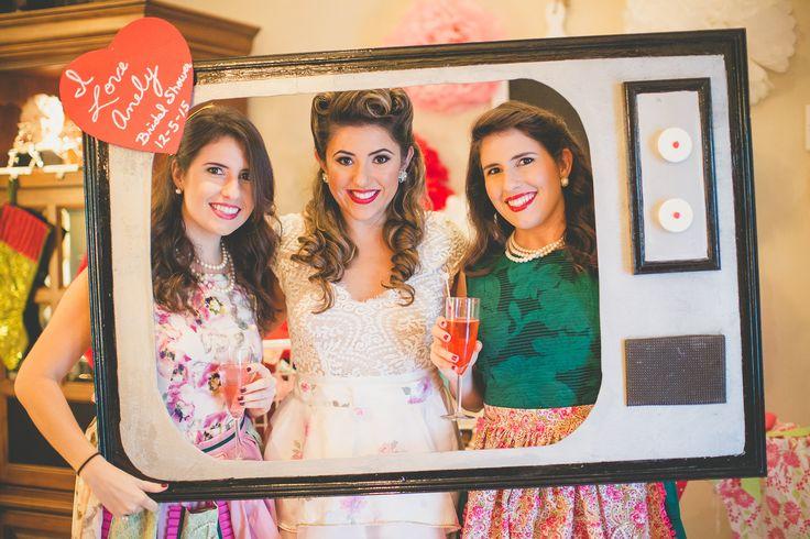 50's Housewife Retro Bridal Shower photobooth  Photo cred: @hcarmouze