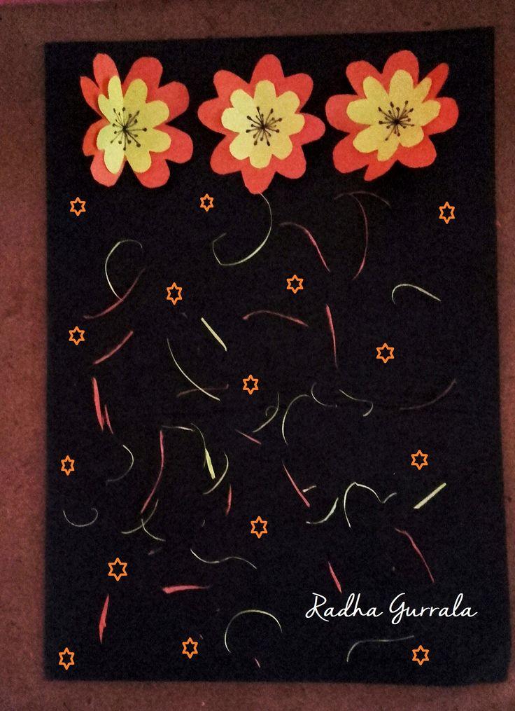Hand Made Greeting card by          Radha Gurrala (G G B)