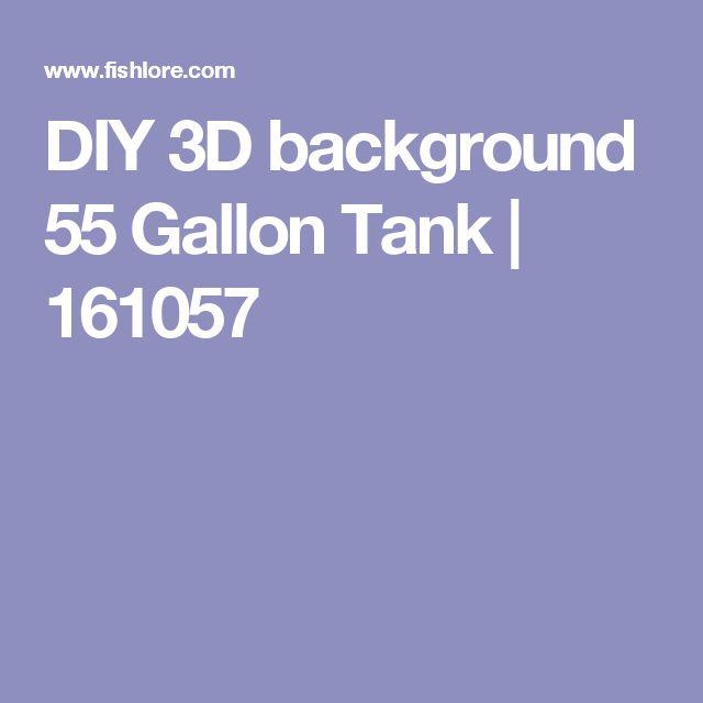 DIY 3D background 55 Gallon Tank | 161057