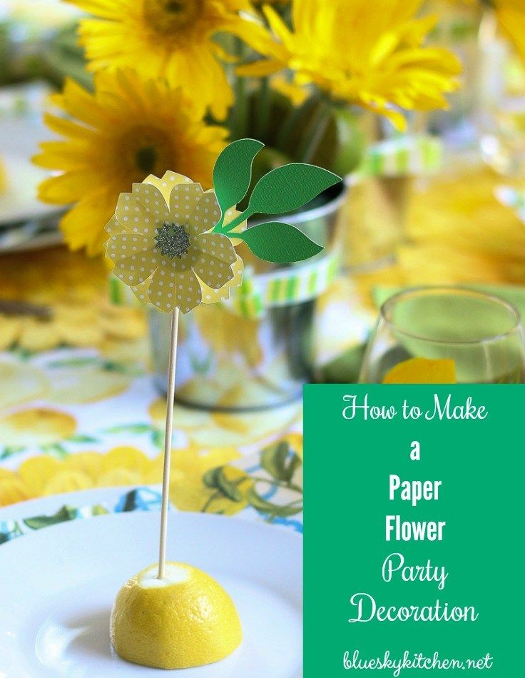 How to Make the Cutest Paper Flower Party Decorations using a Cricut for name cards or cupcake toppers. I've got step~by~step directions for you. Follow my color scheme or use your imagination to make it yours.