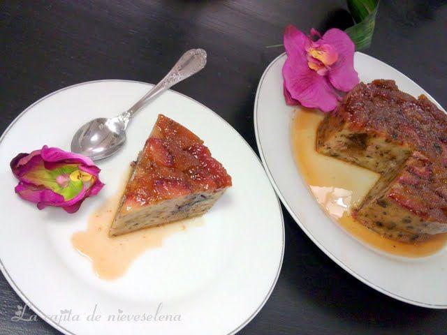 La cajita de Nieves y Elena: Pudin de pan con fresas y chocolate