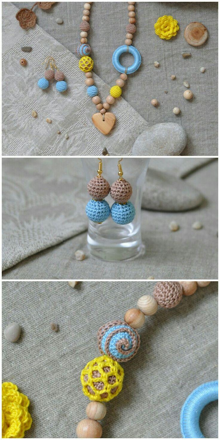 800 рублей. Слингобусы. Экобусы, кормительные бусы. Teething necklace, boho style. For moms and babies.