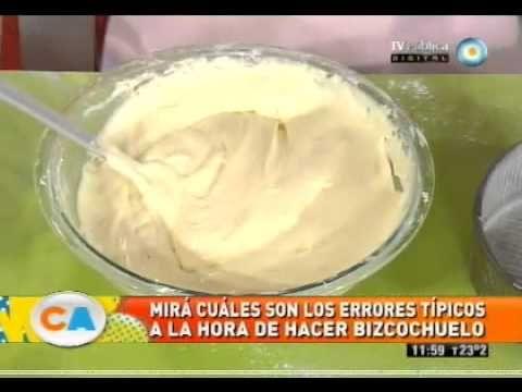 Bizcochuelo - Recetas – Cocineros Argentinos