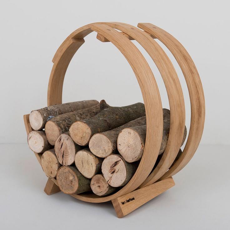Log Loop Wood Basket - Just Lovely!