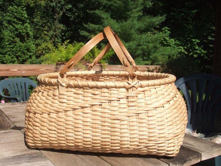 Susan's large Quilt basket woven by Nancy Bruins