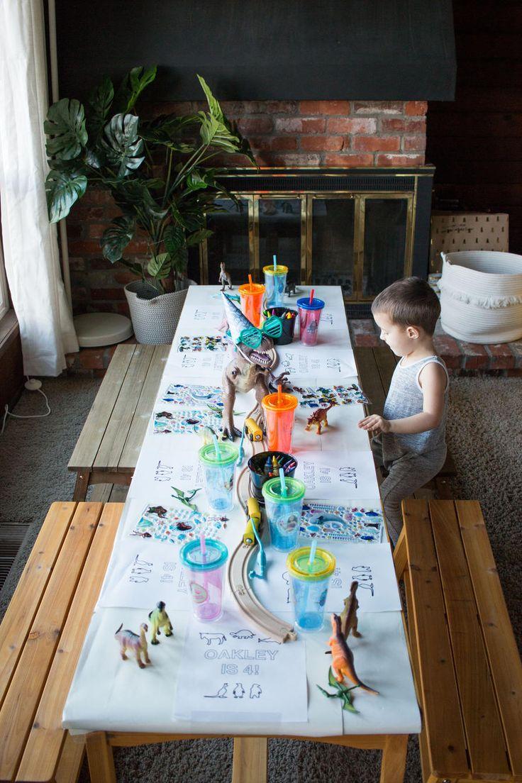 Four Year Old Party Dinosaur Birthday Train Animals