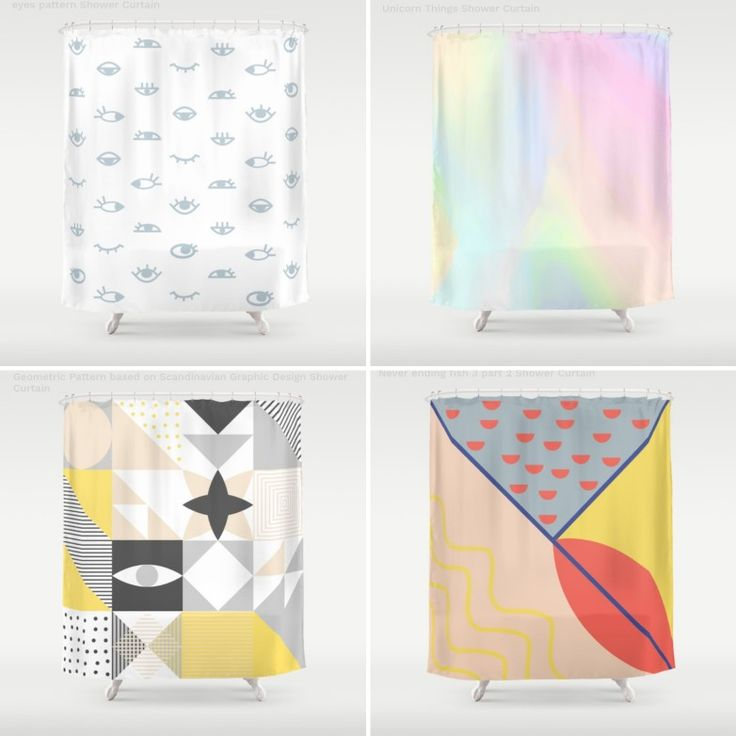 Shower curtains in @Society6 #design #showercurtains #patterns #abstract #art