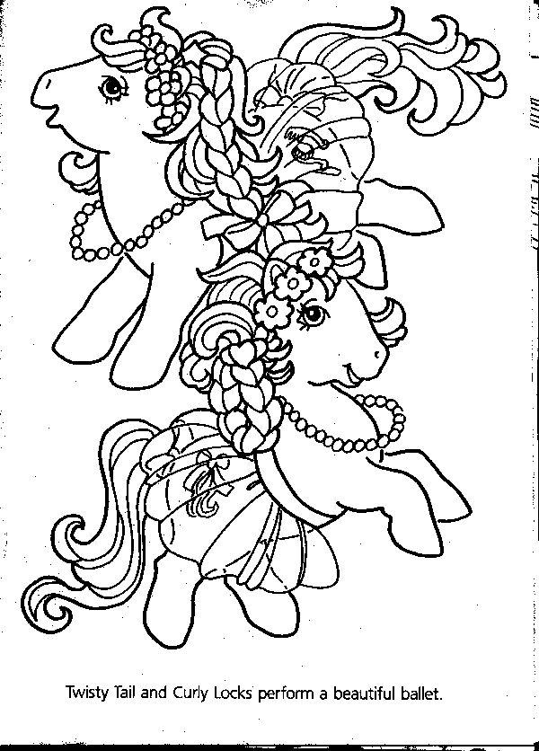 Vintage My Little Pony Coloring Pages : Best images about crafty s my little pony coloring
