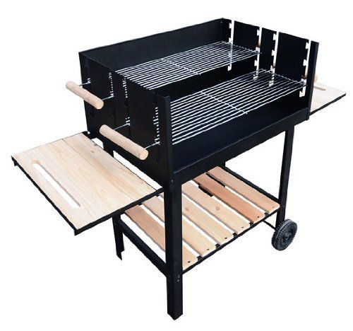 Outsunny-Trolley-Charcoal-BBQ-Barbecue-Grill-Patio-Outdoor-Garden-Heating-Heat-Smoker-138x525x101cm