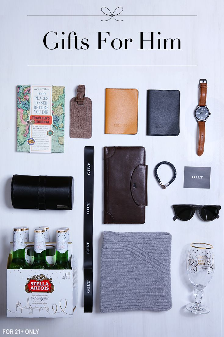 Shopping for a stylish globetrotter this holiday? Help them travel in style with a leather duffel bag and new luggage tags. Pair your gift with a classic accessory like cashmere gloves or a scarf from our Gilt gift guide. Don't forget to top it all off with a holiday Chalice and some Stella Artois.