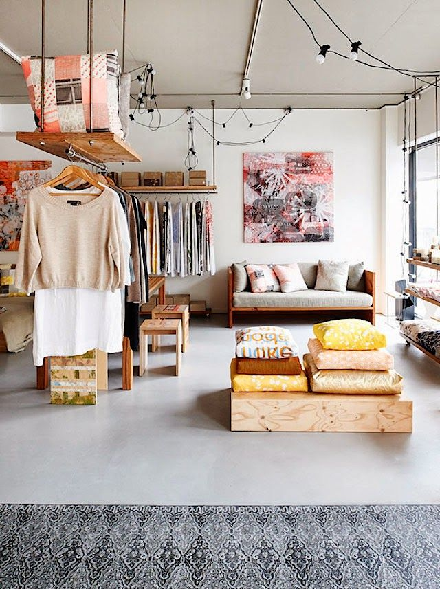 Shop Crush | Spacecraft. If you have a line of clothing in the middle of your store, you can still have storage above it! popuprepublic.com