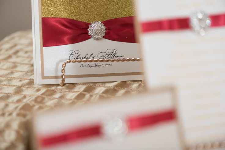 Bespoke The Wedding Event, Regal Red & Gold Wedding, Wedding Personalized Stationary, Wedding Graphic Design, Wedding Gold and Red Invitations