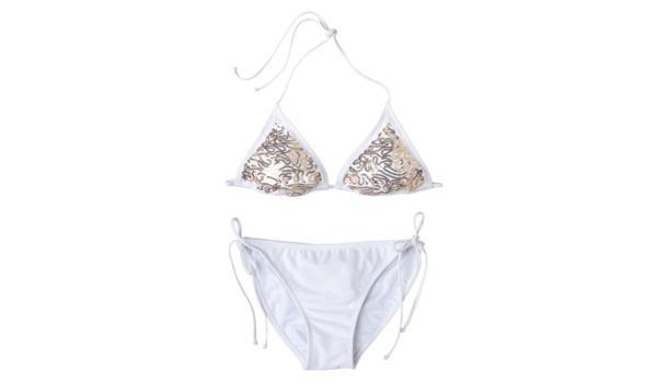 Xhilaration® Juniors 2- Piece Swimsuit with Sequin PatternPiece Swimsuits, Sequins Pattern, Honeymoons Style, Cancun 2012, Saia Mini-Sequins, White Swimsuits