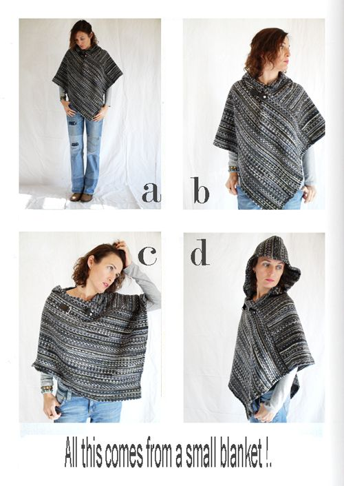 by sophie b. l'éco-design à la française: Fall winter 11 / 12 - A warm poncho in a blanket.