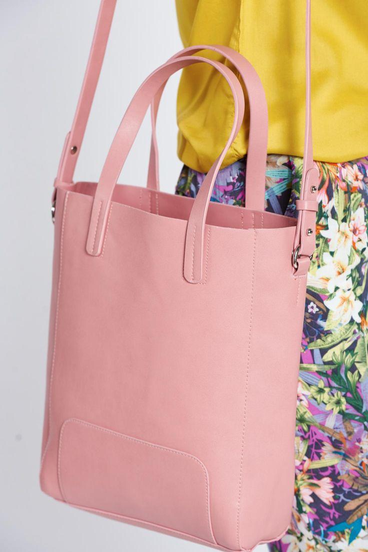 Comanda online, Geanta dama casual Top Secret rosa cu manere de lungime medie. Articole masurate, calitate garantata!