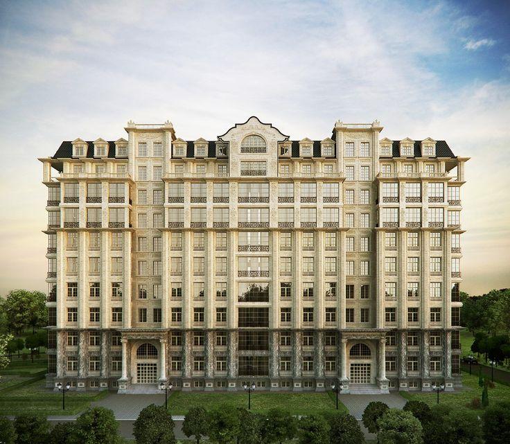 Инвестиционный проект — Многоквартирный дом. Главный фасад.