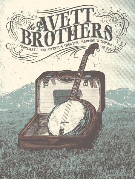 Avett Brothers tour poster