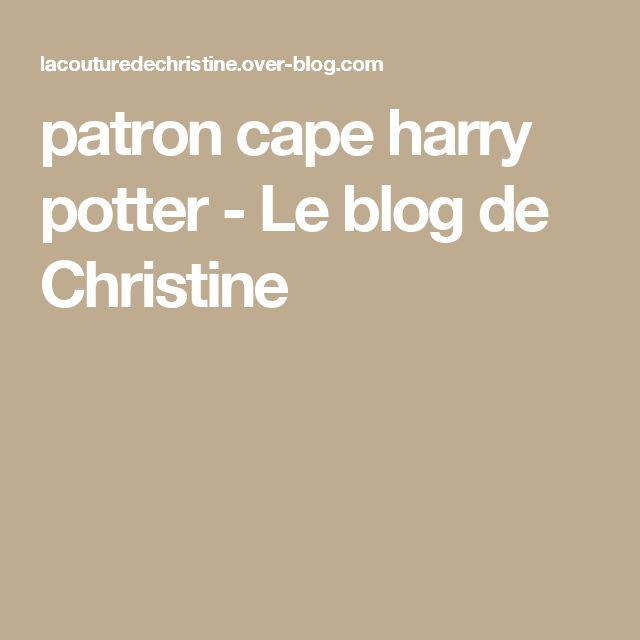 patron cape harry potter - Le blog de Christine