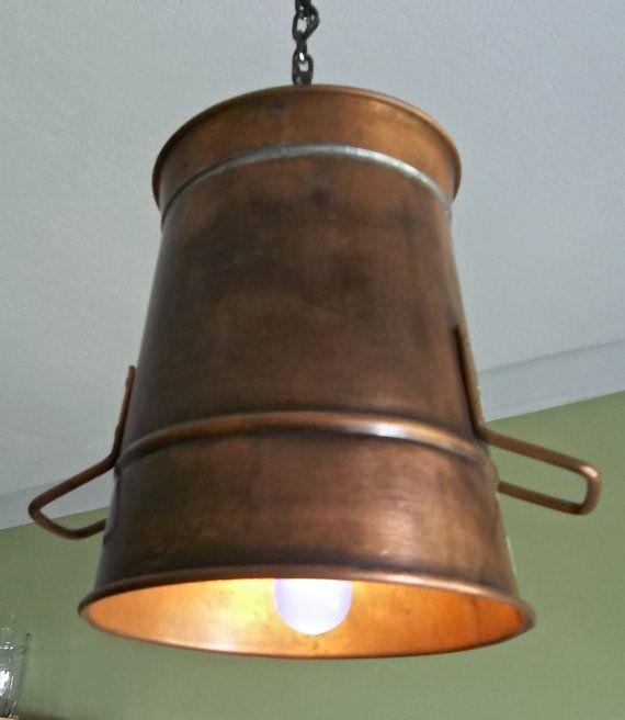 Rustic Copper Pail Pendant Light By Cre8iveconcrete On Etsy: 1000+ Images About Fetch Me A Pail On Pinterest