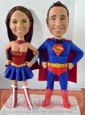 superman and wonder woman wedding cake toppers the world s catalog of ideas 20615