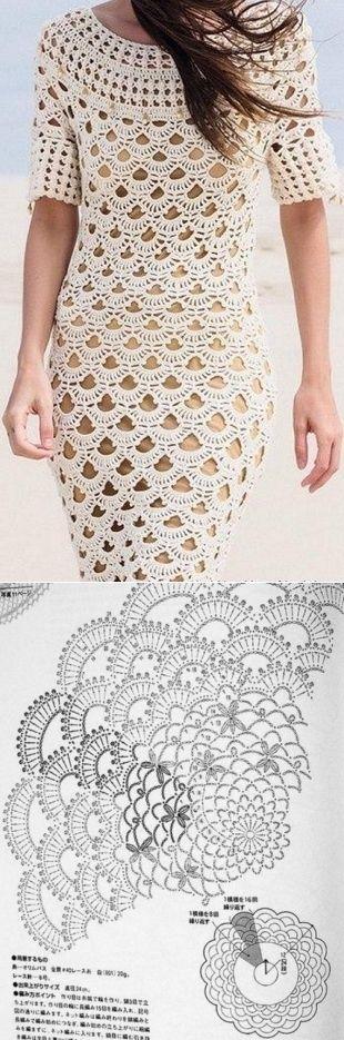 Lacy dress hook / Knitting