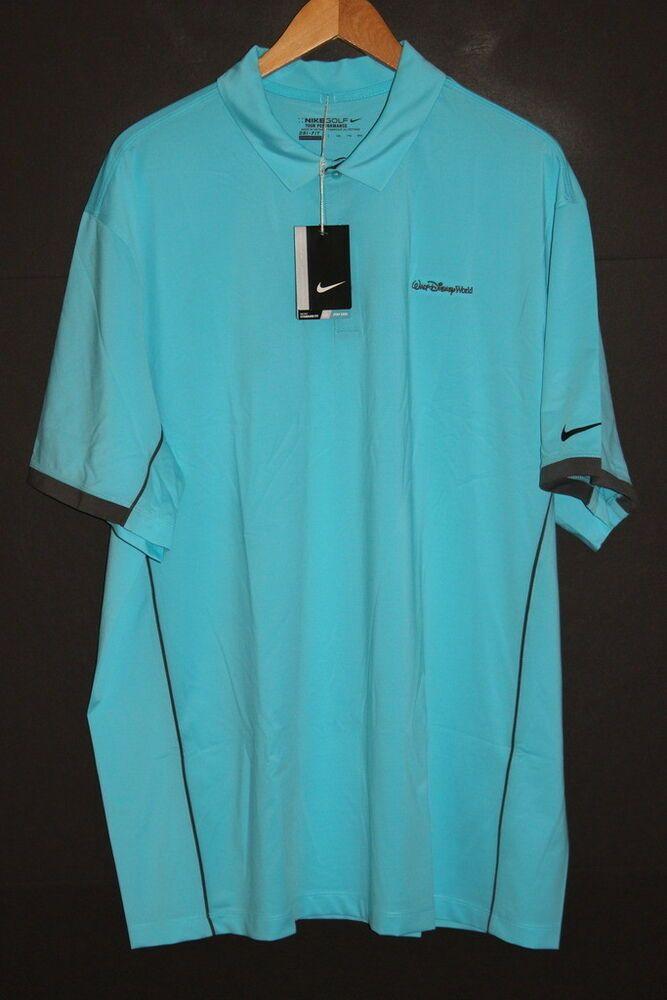 8073d1f8e NIKE GOLF ( WALT DISNEY WORLD ) Men's DRI-FIT Polo Shirt sz 2XL XXL Blue  NWT #fashion #clothing #shoes #accessories #mensclothing #shirts (ebay link)