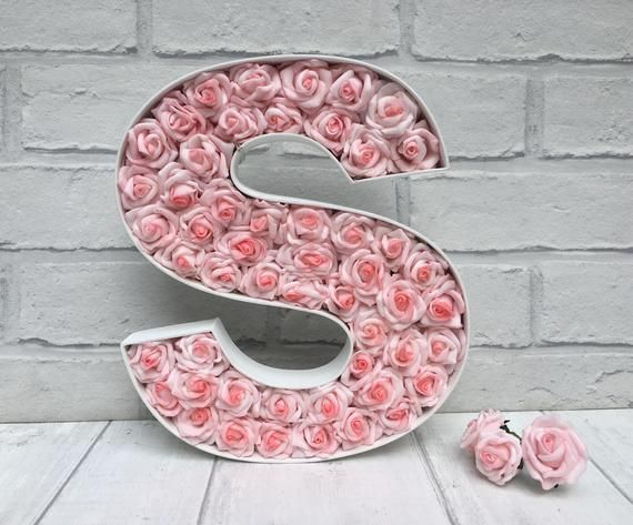 Pink Rose Letter Moving Home Gift New Home Gift Large Etsy In 2021 New Home Gifts Pink Decor Home Gifts