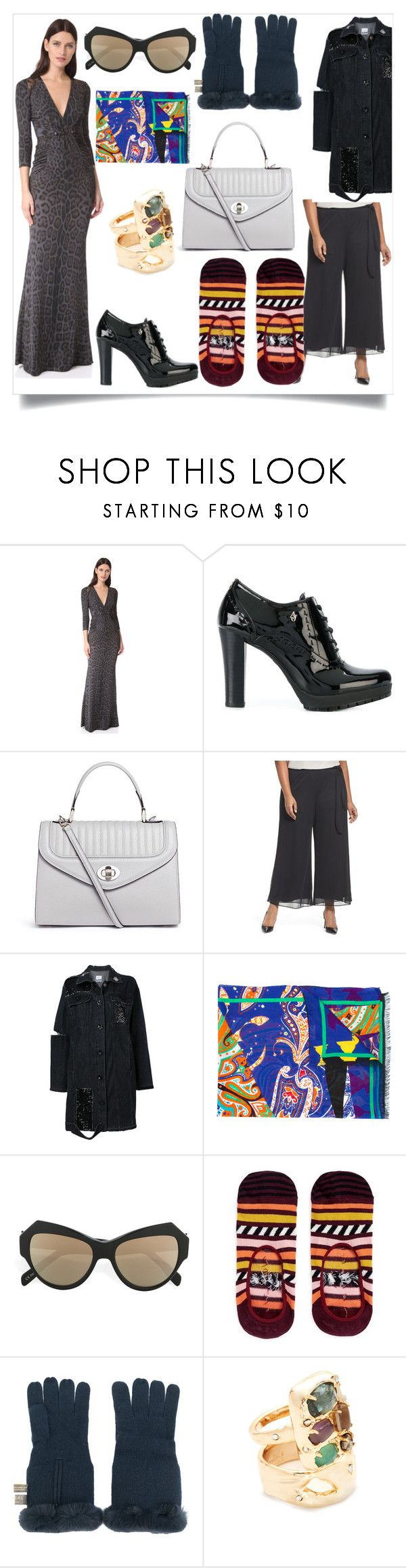 """""""Travel with comfort fashion"""" by gloriaruth-807 ❤ liked on Polyvore featuring Roberto Cavalli, Armani Jeans, Delage, Alex Evenings, SJYP, Etro, Zanzan, Happy Socks, N.Peal and Alexis Bittar"""