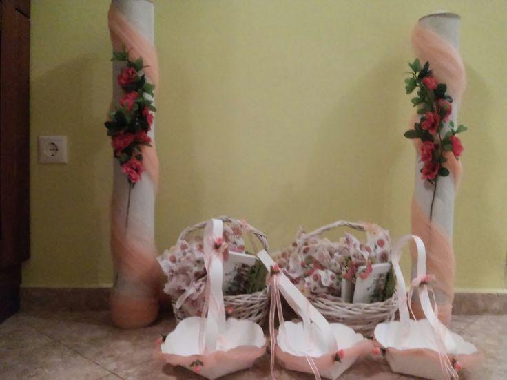 Λαμπάδες για σκηνικά θεατρικού γάμου