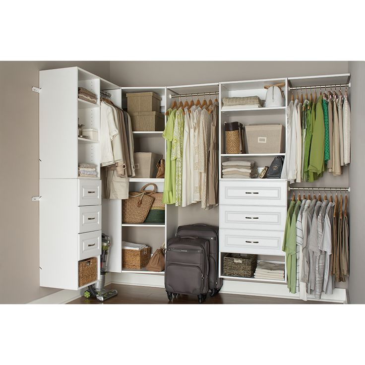 Shop Estate By Rsi 9 5 Ft X 3 Ft White Wood Closet Kit At