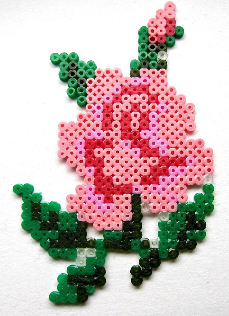 Kawaii Hama/Perler Bead Rose