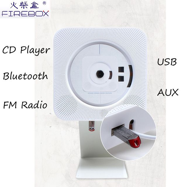 Source High quanlity portable classic bluetooth CD speaker wall hanging home hifi CD player with USB connection for kids on m.alibaba.com