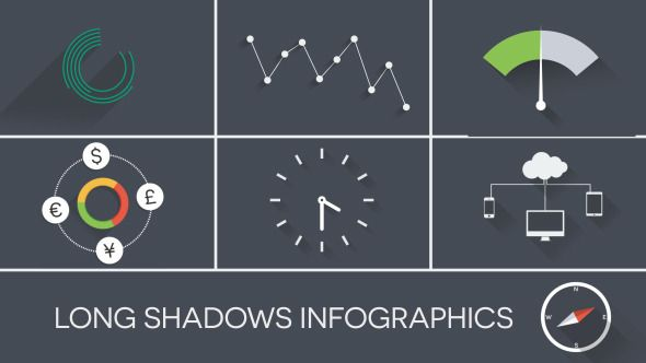 Flat Long Shadow Infographics