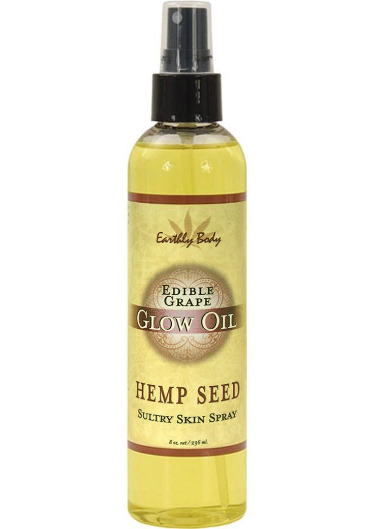 Edible Glow Oil With Hemp Seed Grape 8 Ounce Spray
