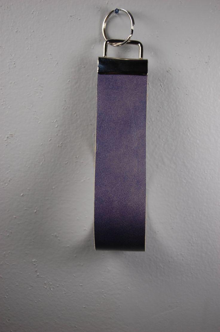 Weathered Purple Leather Wristlet Keychain by BerkeandBradyJo on Etsy