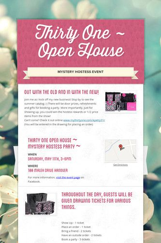 Thirty One ~ Open House Wow!  Love this stuff!!!