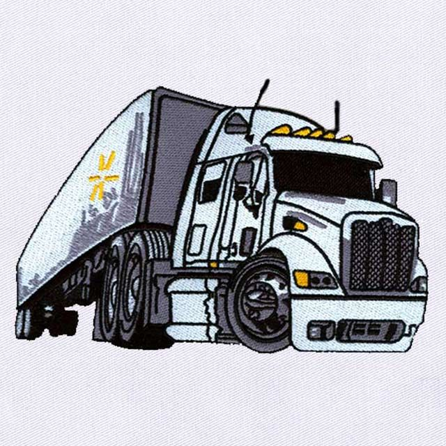 Illustrious Heavy Loader Truck Embroidery Design Emblibrary