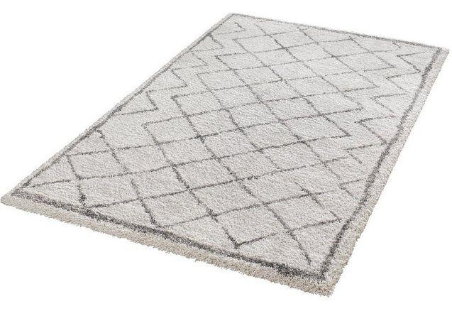 Hoogpolig vloerkleed, Mint Rugs, »Loft«, hoogte 35 mm, geweven